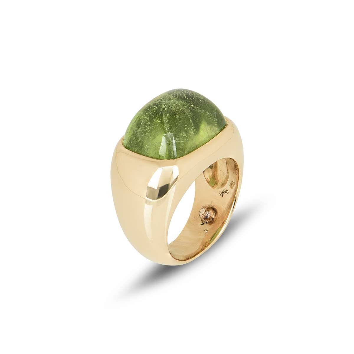 Yellow Gold and Peridot Dress Ring by Rossi